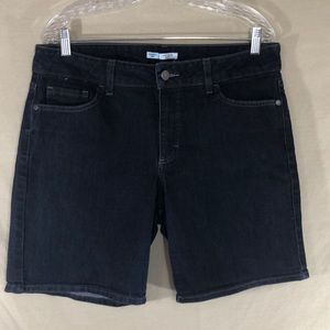 Lee Rider Dark Denim Stretch Bermuda Shorts